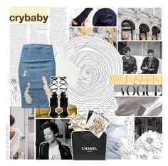 """""""But baby, that's how I want it"""" by lovers-of-one-direction ❤ liked on Polyvore featuring art, yellow, blackandwhite, magazineset, loversofonedirectionoutfits and without1D"""
