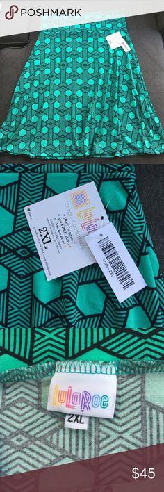 NWT-LuLaRoe Azure Skirt-2XL Beautiful color!! NWT! LuLaRoe Skirts