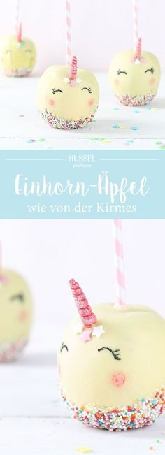 Einhorn Kirmesapfel Who does not love them, these brightly colored sweet apples at the fair? How an apple becomes a magical unicorn fair apple, we show you! Birthday Desserts, Cool Birthday Cakes, Birthday Ideas, Unicorn Foods, Snacks Für Party, Cake Shop, Candy Apples, Food Humor, Cute Food