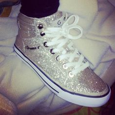 New sparkly high tops from guess