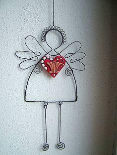 Anjel so srdcom 23cm / ZUDOS - SAShE.sk - Handmade Dekorácie
