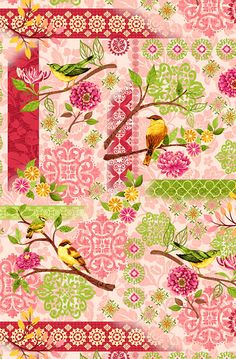 Jardiniere - Blossoming French Garden-Quilt Fabrics from www.eQuilter.com