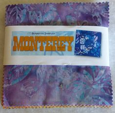 """Cotton Fabric, Quilt,Craft, Charm Pack, 5"""" squares, Monterey Batiks by Benartex, Fast Shipping, CP118"""