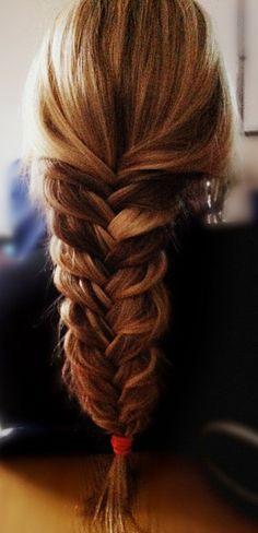 wide fishtail braid