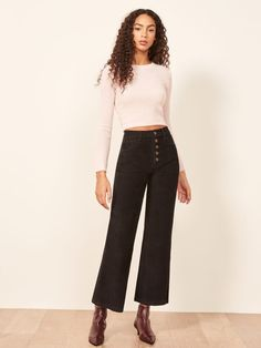 The Austin Pant - The Austin Pant Source by reformation - Fashion Teenage Belted Shirt Dress, Tee Dress, Young Adult Fashion, Girl Fashion, Fashion Outfits, Autumn Fashion 2018, Minimal Fashion, Types Of Fashion Styles, Shirts For Girls