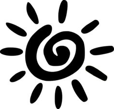 black and white clipart sun - Yahoo Image Search Results Sun Silhouette, Silhouette Design, Dot Art Painting, Pottery Painting, Sun Clip Art, Cloud Drawing, Stencil Fabric, Adinkra Symbols, Easy Diy Christmas Gifts