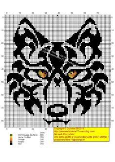 Animal wolf cross stitch.