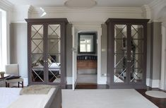 The English Wardrobe Company - Regency Either side of fireplace in top 2 rooms (perhaps without the mirror) Mirrored Wardrobe, Wardrobe Doors, Bedroom Wardrobe, Built In Wardrobe, Bedroom Built Ins, Armoire, Bedroom Seating, Wardrobe Design, Wardrobes