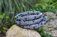 Tutorial Crochet Coated Steel Wire Bracelet with por gunadesign