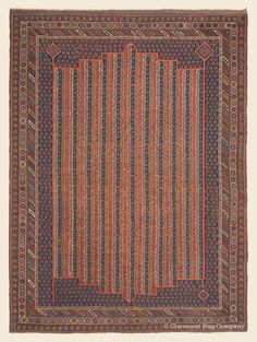 """AFSHAR, 6' 4"""" x 8' 4"""" — 2nd Quarter, 19th Century, Southeast Persian Antique Rug - Claremont Rug Company"""