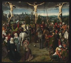 Hans Memling died #OnThisDay in 1494. One of the leading Netherlandish painters of the Bruges School at the end of the 15th Century, Memling painted several renowned religious pieces. Explore many of Memling's work through Europeana: http://europeana.eu/portal/search.html?query=who:Hans+Memling&rows=96&qf=TYPE:IMAGE Image: Calvary. Hans Memling. 1480-1489. Szépművészeti Múzeum (CC-BY-NC-ND) http://europeana.eu/portal/record/2032004/13208.html