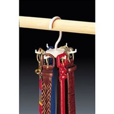 Twirl-a-Belt space saving belt holder for College Dorms!