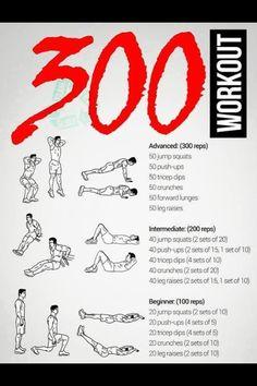 300 no weight workout