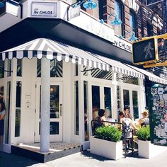 """""""Spotted this cute cafe on the way to a meeting - need to try it!  Has anyone been? #blackandwhite #stripes #cafe #NYC #TGIF #weekends #bychloe #nyceats"""" Photo taken by @kattanita on Instagram, pinned via the InstaPin iOS App! http://www.instapinapp.com (09/11/2015)"""