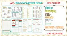 How to Organize Your Life in 2019 Free Printables) : Free home management binder, for organizing your entire household.