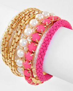 Pink  Bracelet Set from Bows To Toes