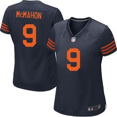 Nike Game Jim McMahon Navy Blue Women s Jersey - Chicago Bears  9 NFL 1940s  Throwback 0c8a9780b