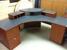 Fancy Computer Desks whalen® astoria computer desk, brown cherry 47-3/4 x 26 deep | a