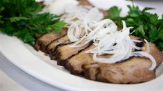 Make must-try soda-marinated brisket & turn leftovers into fried rice Jewish Recipes, Meat Recipes, Crockpot Recipes, Cooking Recipes, Cooking Tips, Venison Recipes, Passover Recipes, Yummy Recipes, Bon Appetit