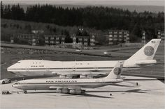 Pan Am Boeing 707 and 747 in 1969. Two jets that changed the world.