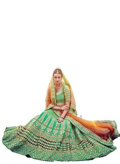 EthnicWear Pakistani Bollywood Designer Bridal Wear Silk Sea Green Lehenga Choli New. Style: A - Line Lehenga , Occasion: Bridal, Reception, Wedding. Fabric: Raw Silk, Color: Sea Green. Work:Embroidery, Patch Border Work, Moti. Blouse is attached to the lehenga and is an Unstitched Blouse Piece. Customer will have to seperate the Unstitched Blouse Piece & the lehenga by themselves Stitching service is not provided. We have not authorised any other seller to sell our brand ETHNICWEAR9. Any...