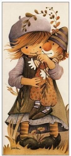 girl with clown doll Sarah Kay, Vintage Pictures, Art Pictures, Art Fantaisiste, Retro, Clown Party, Art Mignon, Cute Coloring Pages, Holly Hobbie