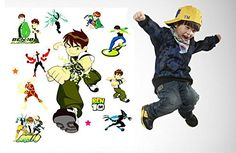 Fange DIY Removable Kids Hero Ben 10 Art Mural Vinyl Waterproof Wall Stickers Kids Room Decor Nursery Decal Sticker Wallpaper 275x196 >>> Find out more about the great product at the image link. (Note:Amazon affiliate link)