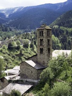 Church of St. Climent de Pal, Lombard Romanesque belfry from century has double arched windows, Pal, Parish of La Massana, Andorra Four Corners Monument, The Beautiful Country, Beautiful Places, Southern Europe, Romanesque, Kirchen, Cool Places To Visit, Light In The Dark, Continents