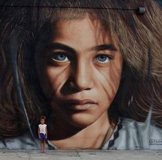 Street Art shared New hyperrealistic Street Art by Jorit Agoch for the Bushwick Collective in NYC At first glance, I thought it was a photo, not a painting/street art. Remarkable...