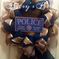 BitsysBits police wreath