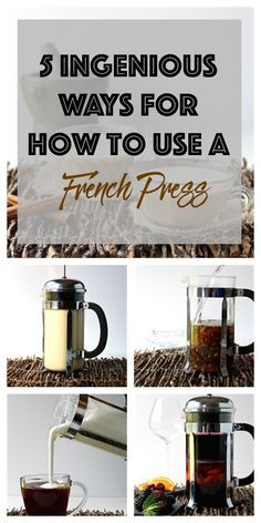 5 INGENIOUS ways for how to use a french press with step-by-step photos, #recipes, how to use french press for tea!