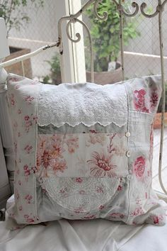 French Antique Handmade cushion                                                                                                                                                                                 More