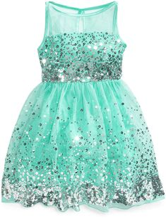 Crystal Doll Sequin Illusion Dress, Big Girls  (ad shopstyle)