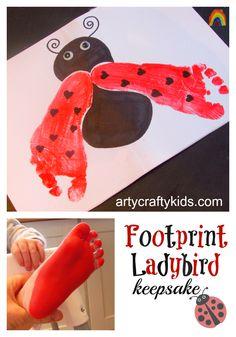 Arty Crafty Kids - Art - Footprint Ladybird Keepsake