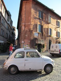 Fiat in Trastevere, Rome, Italy.