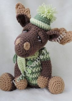 Simply Cute Moose Crochet Pattern by Teri Crews Designs