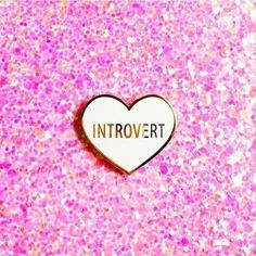 Introvert pins are back in stock over at @shop.luella. Link in their bio to purchase 💕  .  .  .  .  .  .  #introvert #flair #lapelpin #lapelpins #pingame #pinstagram #pinsofig