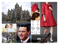 """""""Royal Crossover: Princess Mary of Wales attending the religious wedding ceremony of HRH Crown Princess Amelia to Mr. Alexander Bellingfield at St Giles' Cathedral with the Marquess of Stafford"""" by marywindsor ❤ liked on Polyvore featuring Rachel Trevor-Morgan, Dolce&Gabbana, Harry Winston and Christian Louboutin"""