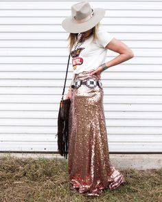 South Point Stakes Sequin Skirt - NFR outfit