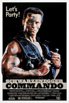 Commando - 1985 American action film directed by Mark L. Lester, The film features an ensemble cast including Arnold Schwarzenegger, Rae Dawn Chong, Alyssa Milano, Film Movie, Film D'action, Bon Film, 80s Movies, Action Movies, Great Movies, Action Film, Movies Free, Watch Movies
