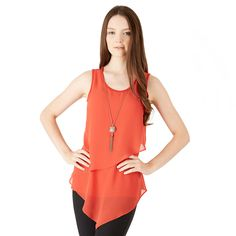 Juniors' IZ Byer California Tiered V-Hem Tank Top - $19.99 - (colors listed by preference) NAVY, OFF WHITE, OLIVE