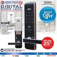 Dapatkan Segera Digital Door Lock K1100 Hanya Di Kenari Djaja Dengan Harga Istimewa.. Handle Kunci Praktis Dan Aman Yang Dapat Diakses Dengan Pin, RFID Card Dan Manual Key ... Promo ini Berlangsung Sampai Dengan 31 Oktober 2017.  Informasi Hub. : Ibu Tika 0812 8567 7070 ( WA / Telpon / SMS ) 0819 0506 7171 ( Telpon / SMS )  Email : digitalmarketing@kenaridjaja.co.id  [ K E N A R I D J A J A ] PELOPOR PERLENGKAPAN PINTU DAN JENDELA SEJAK TAHUN 1965