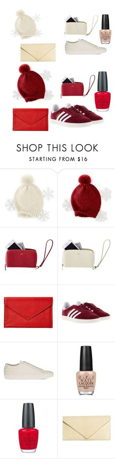 """Red or cream ?🎉"" by grace-m-polyvor ❤ liked on Polyvore featuring Mark & Graham, Graphic Image, adidas, Common Projects, OPI and Brooks Brothers"