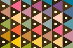 Colorful triangle pattern. #Graphic #Geometric