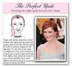 """""""Updo for Heart Shaped Faces"""" by mmmartha ❤ liked on Polyvore featuring beauty"""