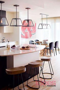 Un condo moderne et chaleureux | Les idées de ma maison Photo: ©TVA Publications | Yves Lefebvre #deco #condo #moderne #cuisine