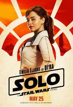Das neue Charakterposter für Han Solo mit Di´Ra Nicht mehr lang warten wir jetzt müssen. Kinostart ist am 24.05.2018. Auch für Game of Thrones-Fans ;-)