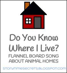 Story Time Secrets: Flannel Friday: Do You Know Where I Live?