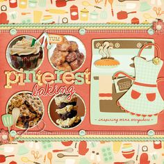 Inspiration: Super Cute Page With The Circular Photos, Adorable Element Placement And Great Title Work