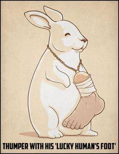 """""""Bambi"""" avec sa patte d'homme, porte-bonheur"""
